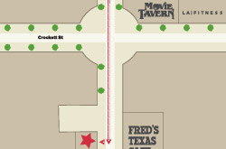 Directions to Fort Worth Fixi Shop for repairing iPhone, iPad, and iPod.